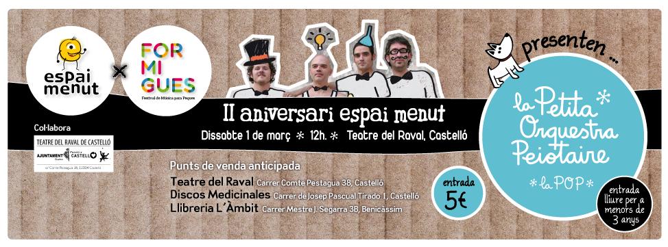 Espai x Formigues Fiesta aniversario Espai Menut